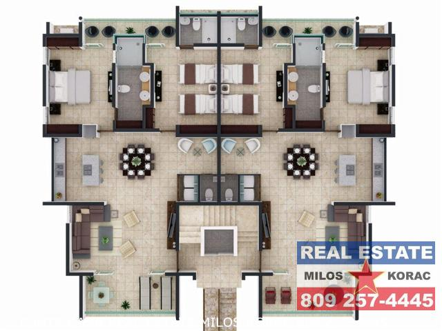 Costa Hermosa Cortecito Two Bedrooms floorplan